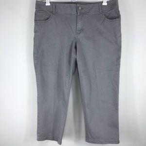 Lane Bryant Gray Capri size 18